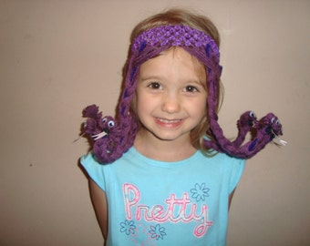 Celia Monsters Inc inspired wig headband, snake braids crochet headband, dress up and costumes.