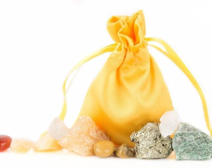 Solar Plexus Chakra Healing Kit Yoga, Meditation, Crystal Healing, and Reiki