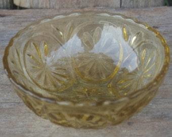 Yellow Glass Bowl, set of 2