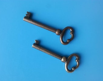 Set of 2 Grandfather Clock Door Keys - Project, Craft, New! FREE SHIPPING!