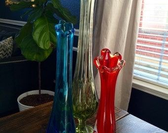 Viking Swung glass Vases