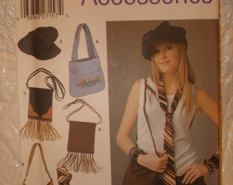 Fringe Bags Hats & Ties Sewing Pattern Simplicity 5308