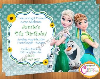 Frozen Fever Birthday Invitation - Frozen Fever Birthday Party - DIY Frozen Fever Invitation - Frozen Birthday Invitation CraftyCreationsUAE