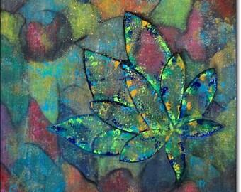 Acrylic Paintings Abstract Canvas Art ORIGINAL CONTEMPORARY ART Abstract Textured Canvas Paintings Blue Green Red 24x24x1,5 60cmx60cmx3,6cm