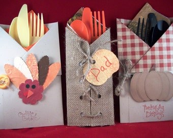 Thanksgiving Flatware Holders