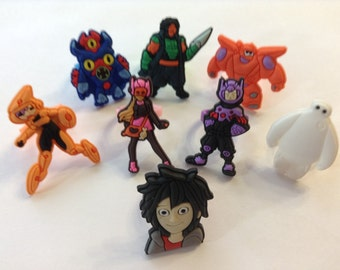 Big Hero 6 Party Favor Cupcake Toppers Rings