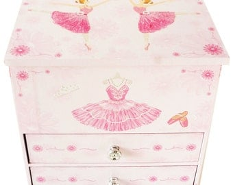 "Lily & Ally / Flower Ballerina Musical Jewelry Box, Melody of ""Waltz of the flowers"""