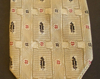 Vintage-Skinny-Necktie-Olds-King-Portland Or.  50's 60's Retro Mad Men necktie