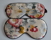 Free shipping 1pc silk eyewear sleep eye mask travel mask big size blue and white porcelain