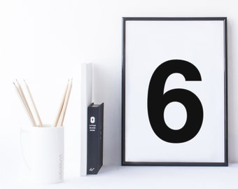 Quote Print and/or Frame - Number '6'