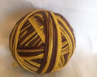 Mustard on Rye - striped sock