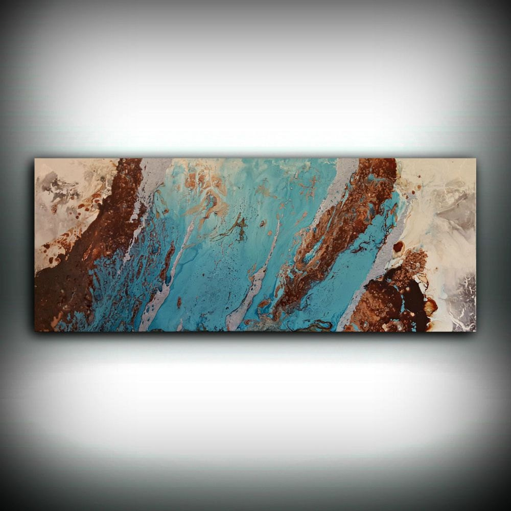 Art abstract painting acrylic painting abstract art copper Interiors by design canvas art