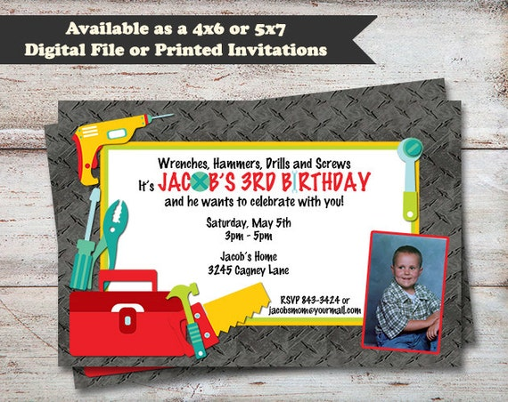 Tool birthday party invitations handyman birthday party il570xn filmwisefo