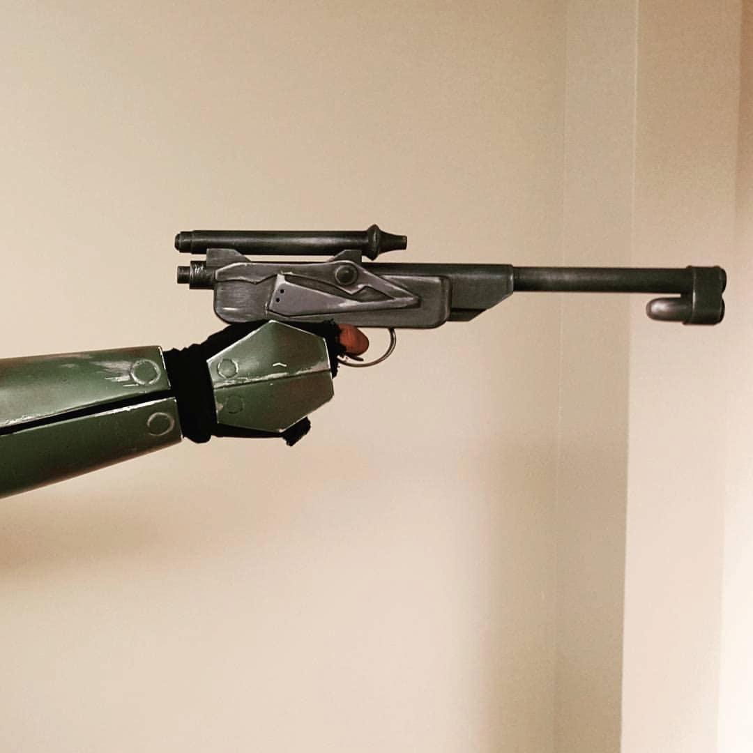 karan 39 s blaster pistol gun star wars rebels dl 18 3d. Black Bedroom Furniture Sets. Home Design Ideas