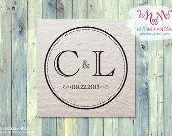 Wedding Monogram, Wedding Logo, Custom Monogram, Circle monogram, initials, Monogram,