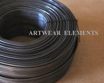 Bangle Wire, 3.5 Pounds, 16 ga Black Annealed Steel Wire, Bracelet Wire, Hardware, Jewelry Supplies, Craft Wire, Bulk, Artwear Elements