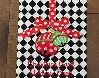 SALE // Christmas Card Address Book- Ready to Ship