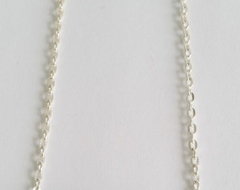 Blue Glass Rondelles Bar Necklace