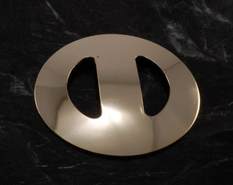 Vintage 60's Nemo Scarf Sash Buckle Round Gold Tone Metal  Accessory New Old Stock