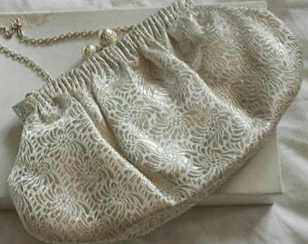 Vintage 60s silk evening bag