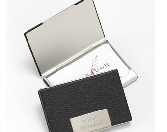 Personalized Business Card Case - Monogrammed business Card Case - Gifts for Him - Gifts for Dad - GC279