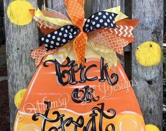 Candy Corn Halloween Door Hanger
