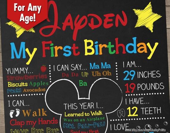 First birthday centerpiece baby birthday board first for First birthday board template