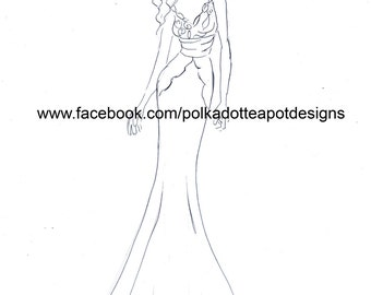 Formal Wear Colouring Templates Set 1