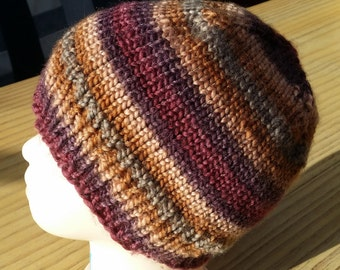 Beanie cup - multicolor - knitted - handmade - 10112