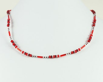 Simple Red Necklace