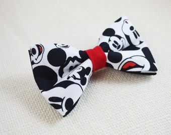 Disney MIckey Mouse Inspired Bow tie, boys bow tie, baby's bow tie, men's bow tie, adult bow tie, wedding bow tie,groomsmen's bow tie
