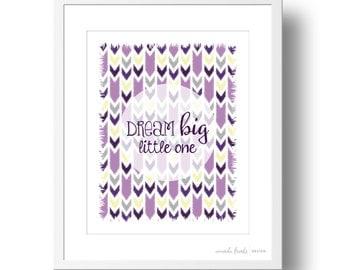 Purple Dream Big Little One Children's Art Print | 8x10 or 11x14