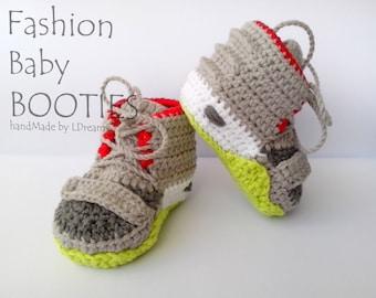 Yeezy 2 Baby Booties, Crochet Yeezy boost, crochet booties