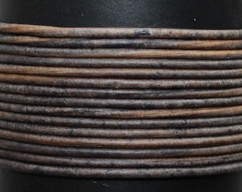 Natural Grey / 1mm Leather Cord / leather by the yard / round leather cord / genuine leather / necklace cord / bracelet cord