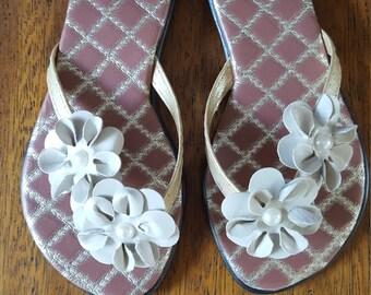 Flower  Flip Flop- Sandals- beach sandals