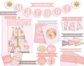 It's A Small World Coordinating Party Printables (Includes Banner, Signs, Labels and Water Bottle Wraps)