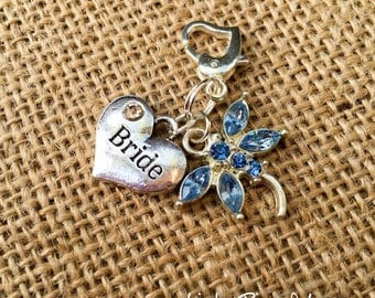 Something Blue Dragonfly Bridal Charm