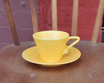 Harlequin by Home Laughling Co C. 1938-1950 Fiesta Tea Cup and Saucer set