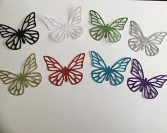 8 sizzix die cut glittery butterflies