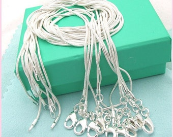 """Sterling Silver 22"""" Snake Chain Necklace"""