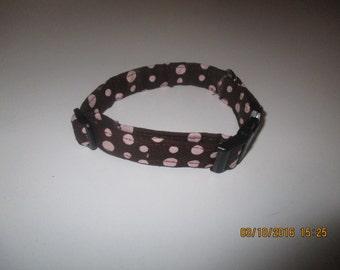 Handmade Small dog collar. Polka Dots!