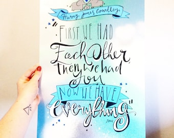 Baby's nursery quote drawing