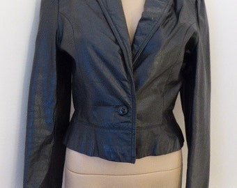 Vintage 'Bermans' 1980's Leather Jacket - BEAUTIFUL!!! UK Size 8 (Steampunk!!)