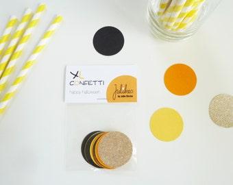 Confetti XL - Happy Halloween - Halloween Table Confetti, Fall Decor, Trend Decoration Orange, Black, White, Scrabbooking