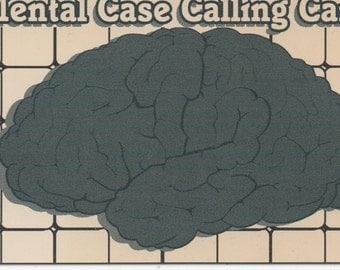 Mental Case Calling Card, Comic wallet sized card,  good shape, c1980s