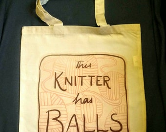 WIP/project bag - this knitter has balls