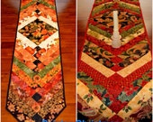 Fall & Christmas Double Sided Table Runner