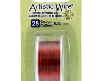 Artistic Wire Dispenser Pack SP Tangerine 28ga 15 Yards (WR26128)