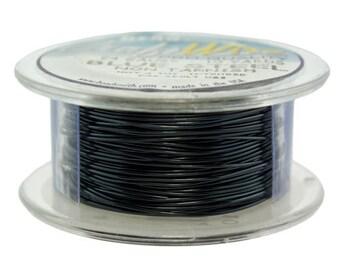 Craft Wire Tarnish Resistant Blue Steel Round Wire 24ga 10yd (WR6724BS)