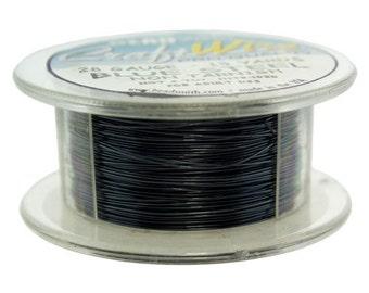 Craft Wire Tarnish Resistant Blue Steel Round Wire 28ga 15yd (WR6728BS)